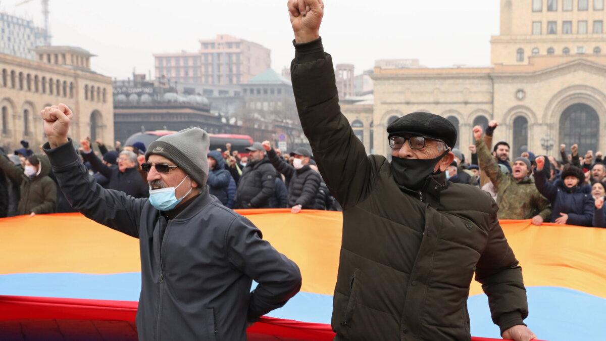 Ереван Армения протесты митинг оппозиция один