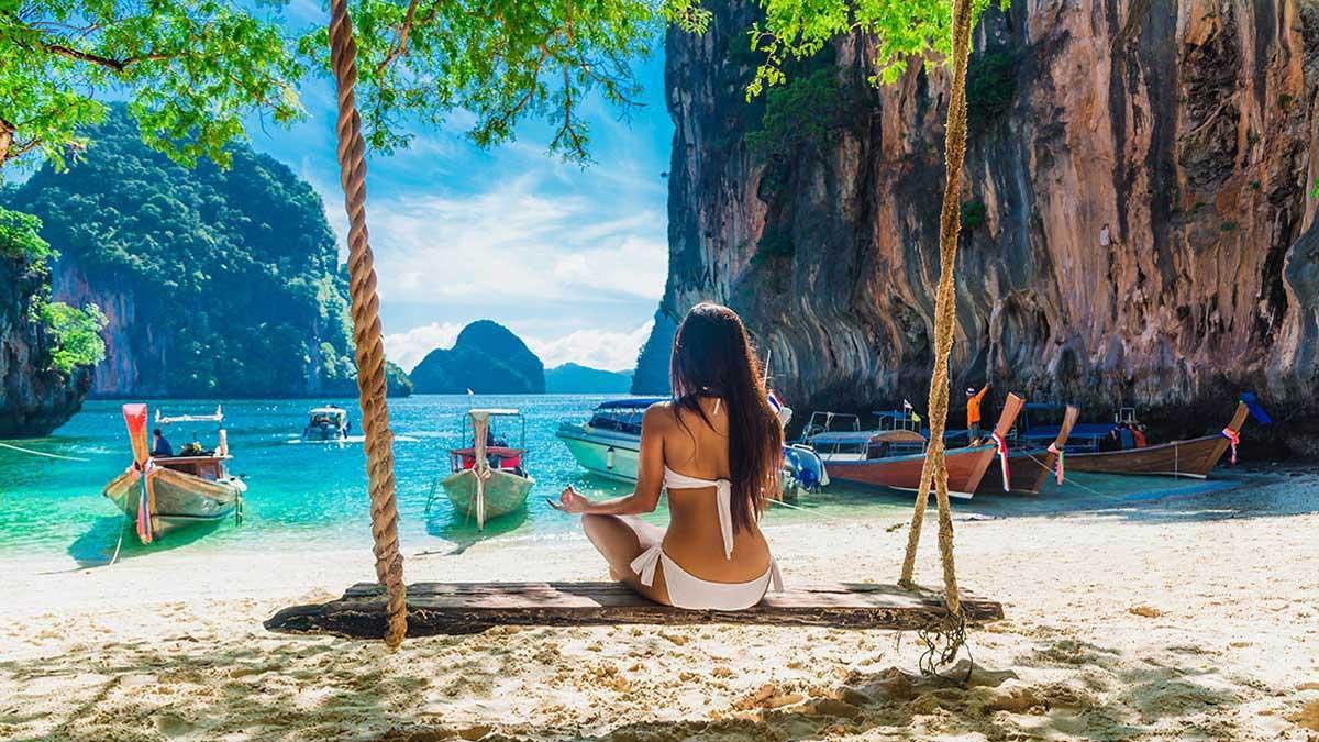 Тайланд отпуск отдых женщина пляж Thailand beach