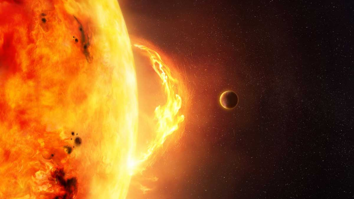 Вспышка на Солнце solar flares