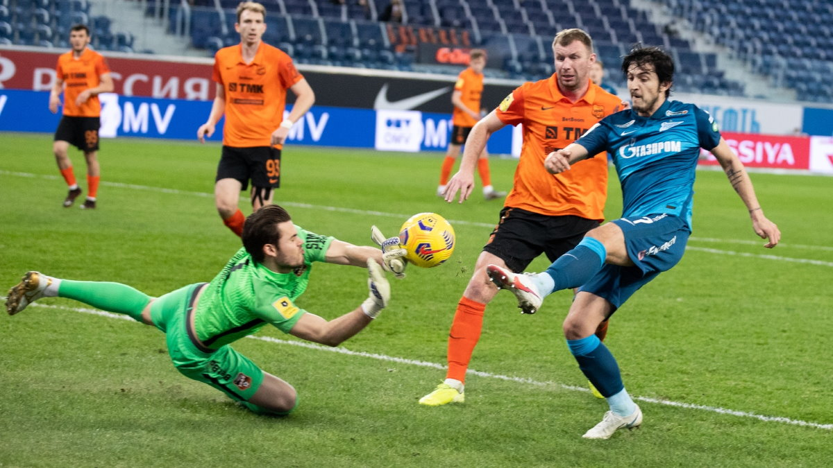 Зенит - Урал футбол