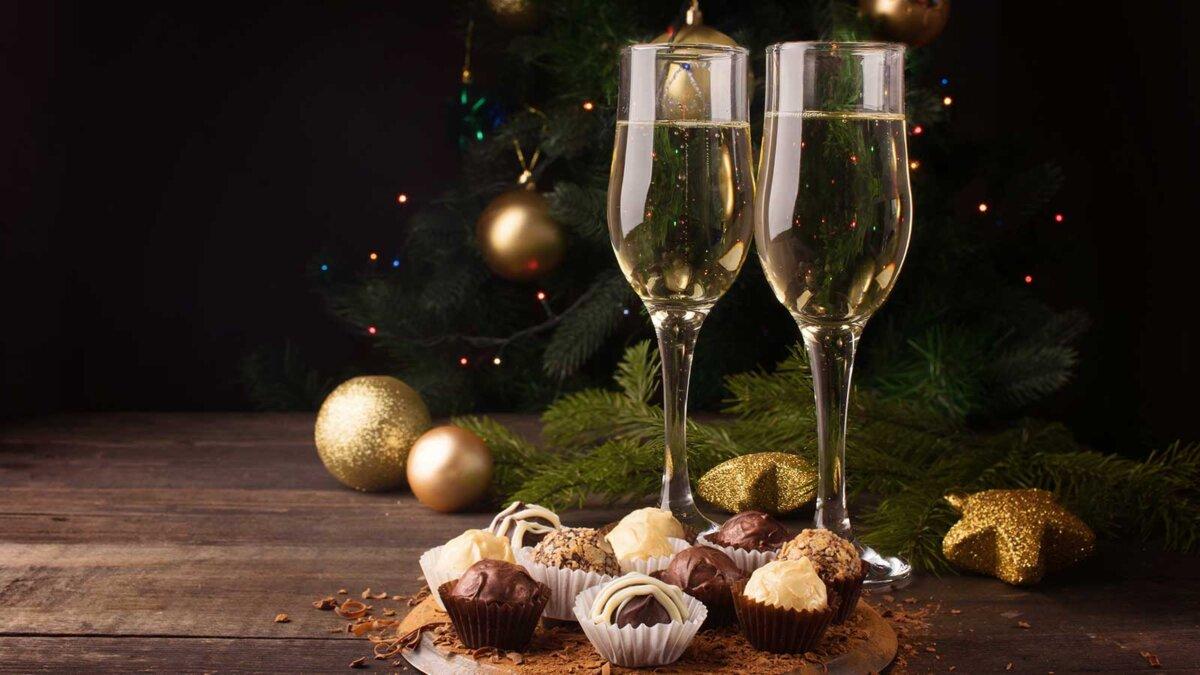 alcohol candy Алкоголь шампанское конфеты елка шары