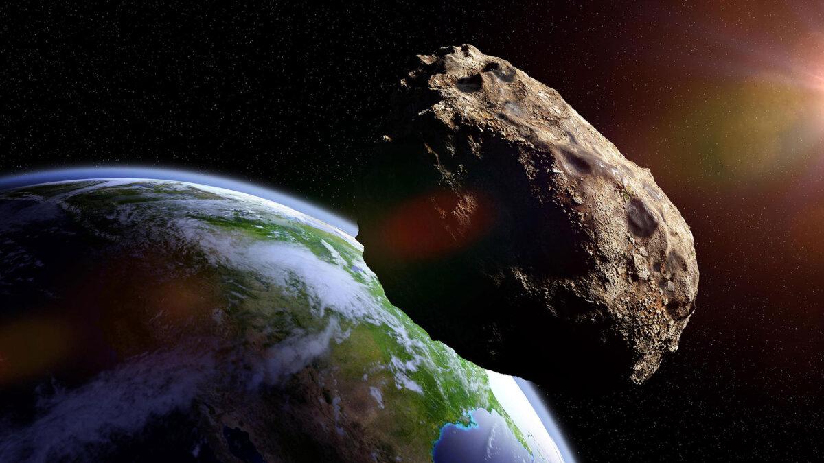астеройд метеорит планета земля приближение