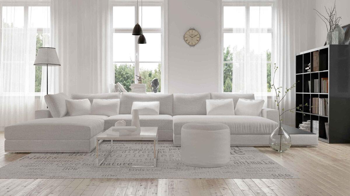 белый интерьер комната мебель