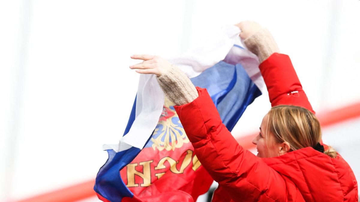 болельщица сборной россии хоккей КХЛ ФХР