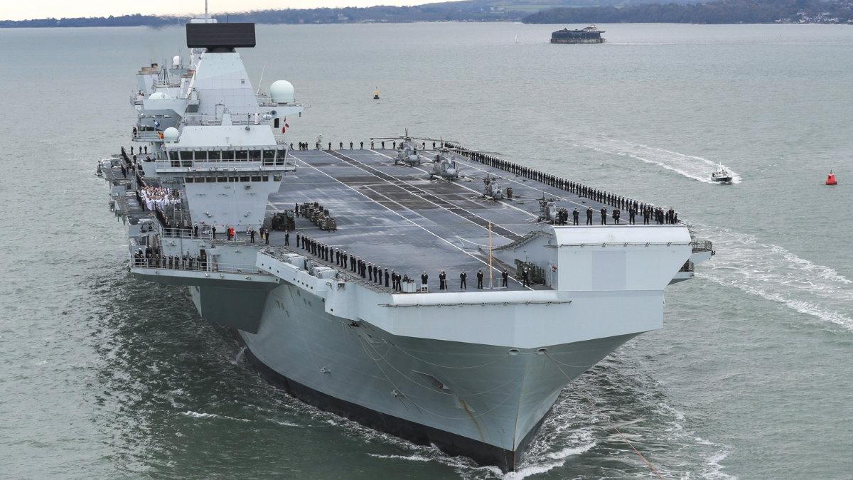 Британский авианосец HMS Prince of Wales