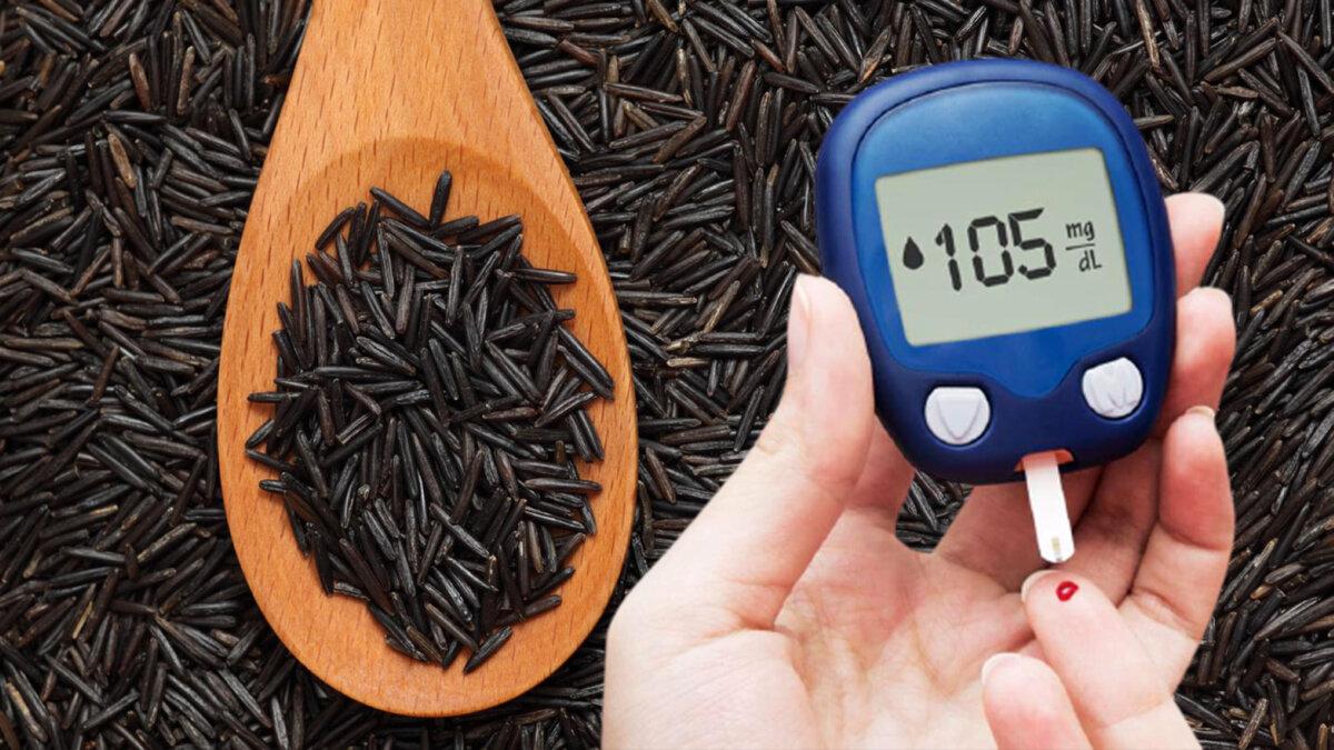 черный рис сахар в крови глюкометр диабет