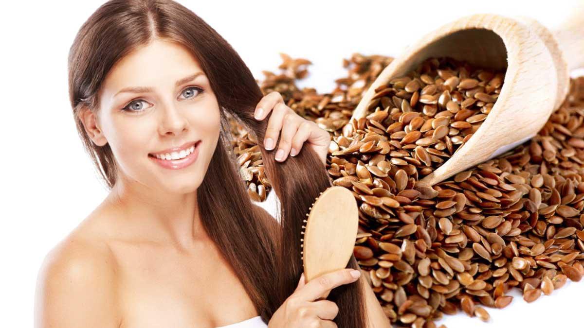 девушка расчесывает волосы пажитник Fenugreek seed extract