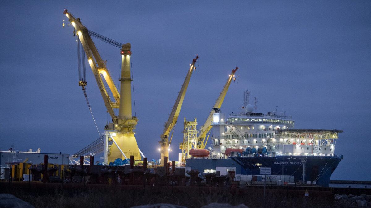 достройка Nord Stream 2 Академик Черский