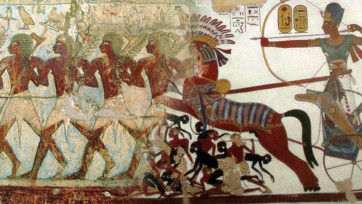 древний египет фрески оружие войны