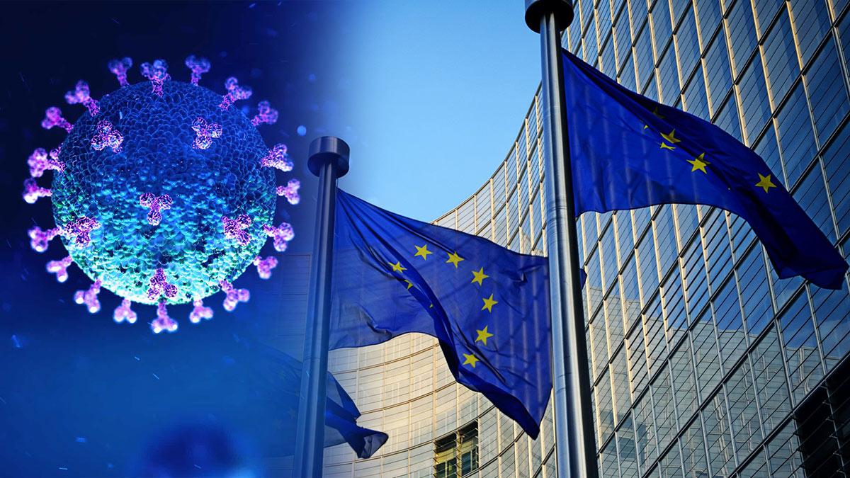 флаги евросоюз коронавирус covid-19 европа