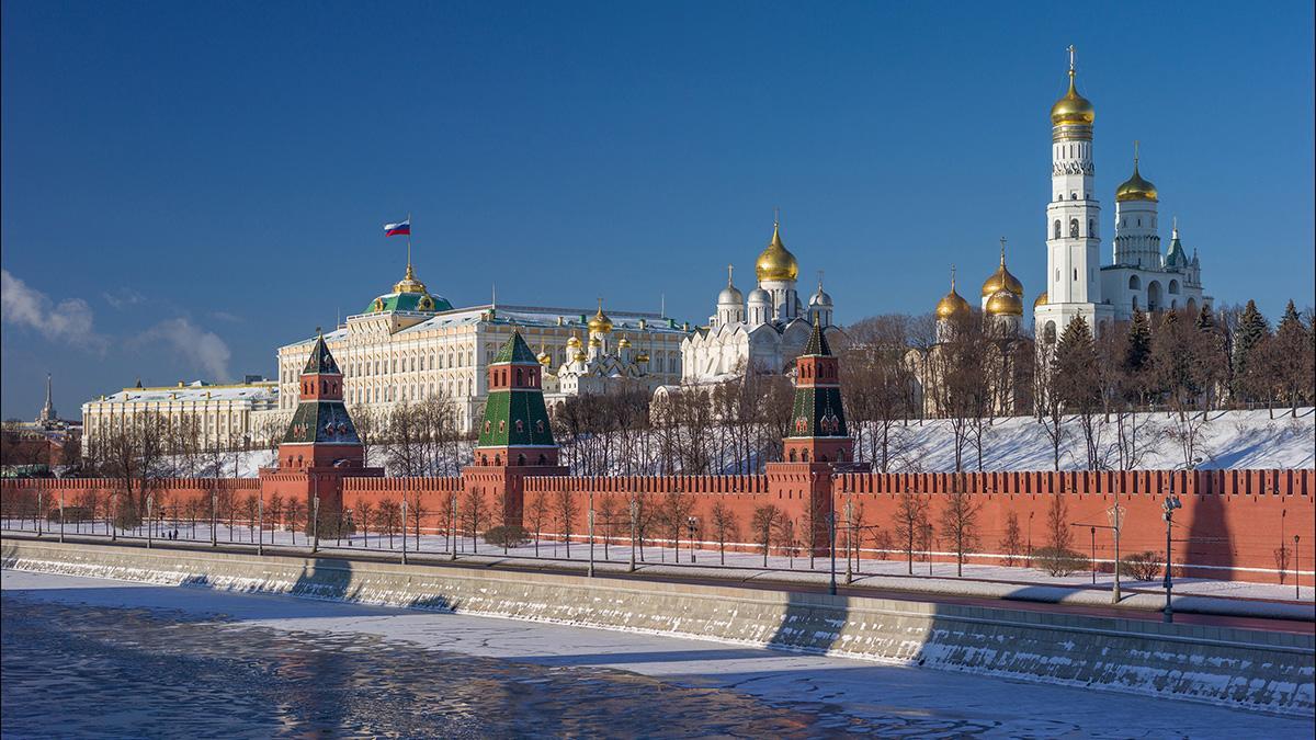 солнечная зима в Москве