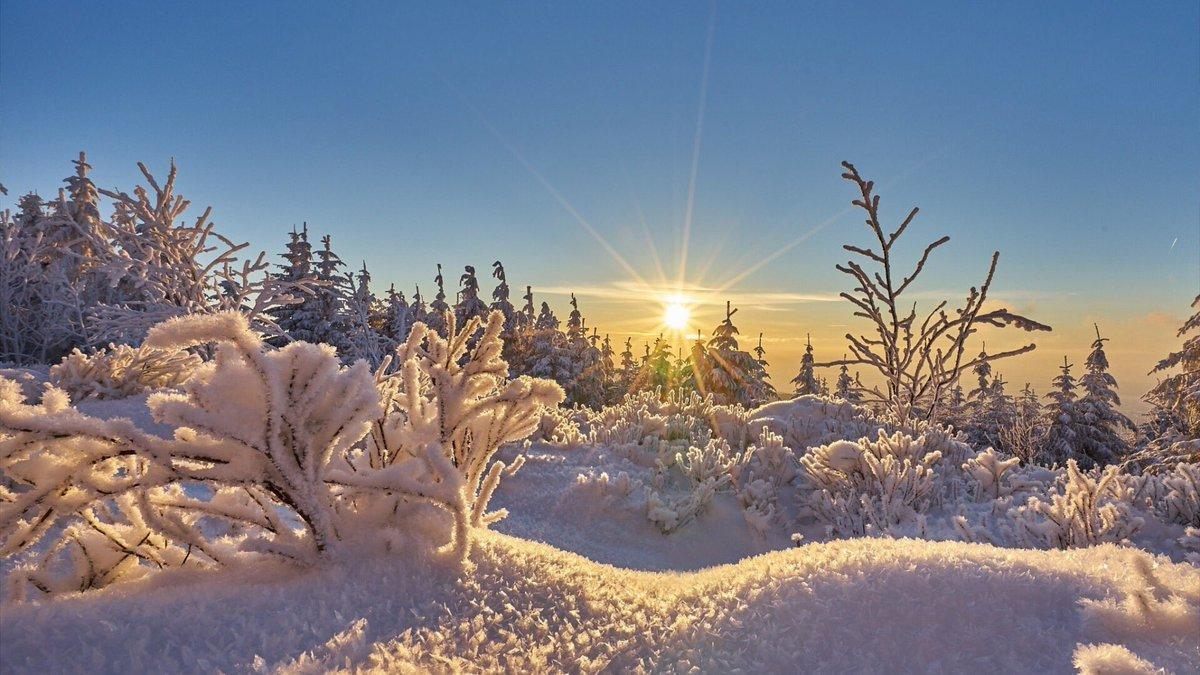 мороз и солнце снег