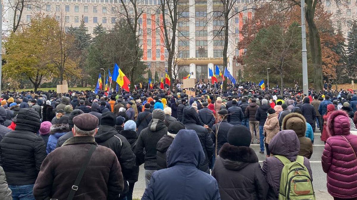 акция протеста Кишинев