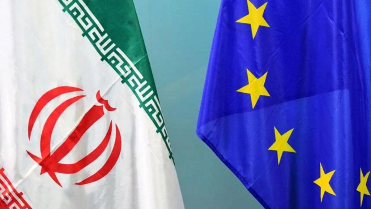 флаги Ирана и Евросоюза