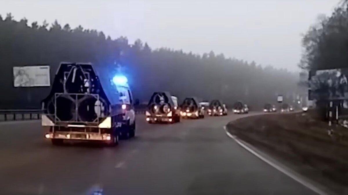 спецтехника едет в Минск
