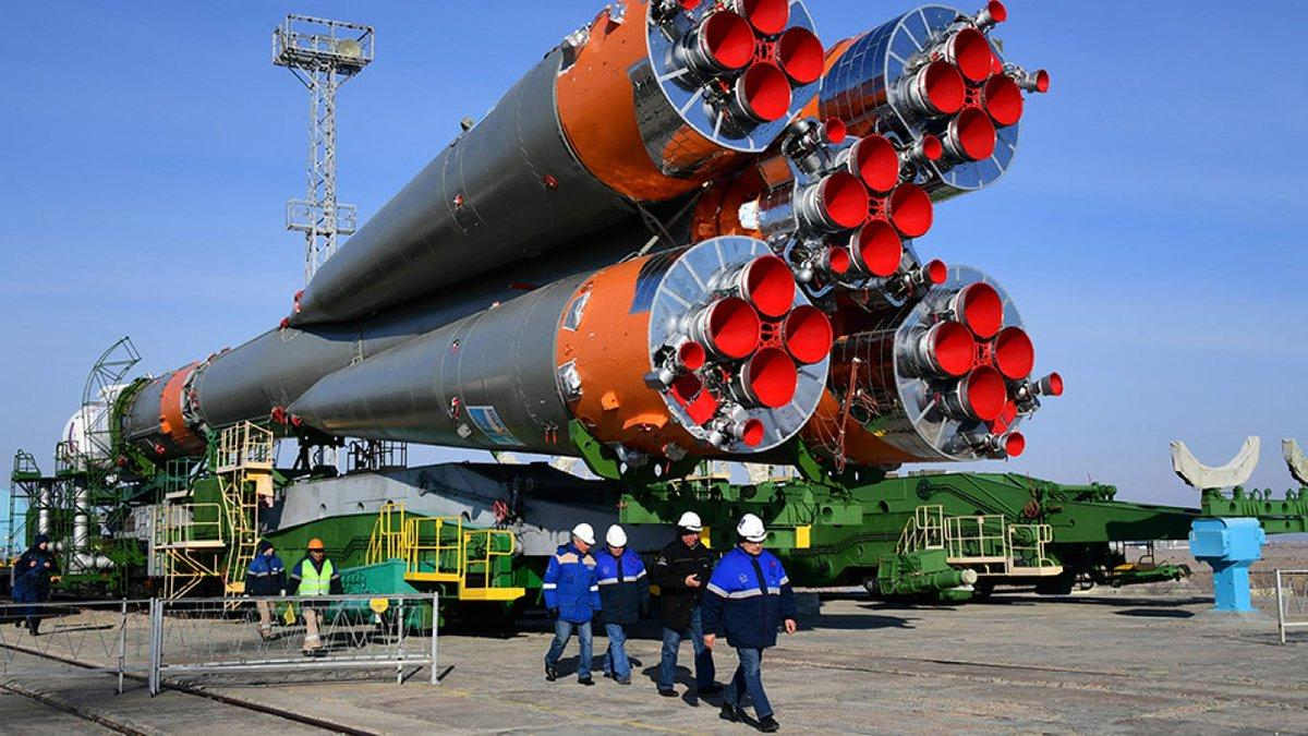 ракета-носитель союз на платформе