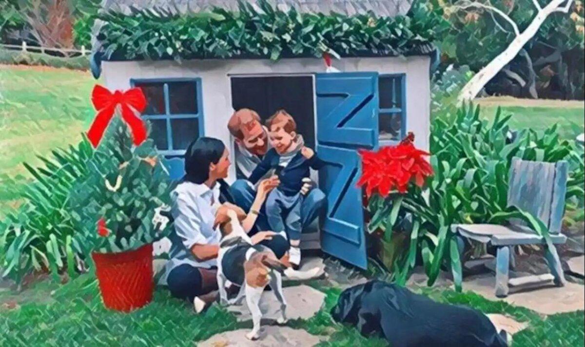 Рождественская открытка Меган Маркл и принца Гарри с сыном Арчи