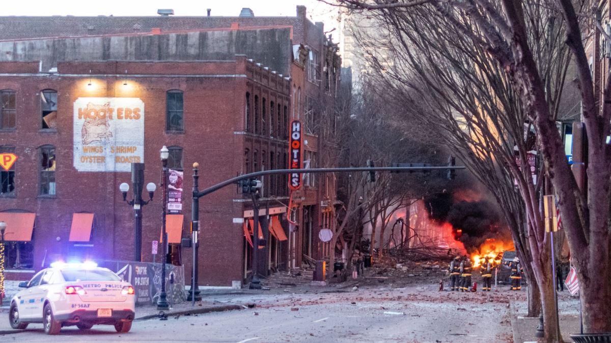 пожар после взрыва в Нэшвилле