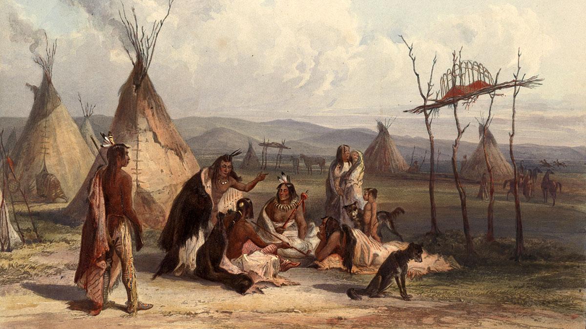 индейцы коренные американцы картина