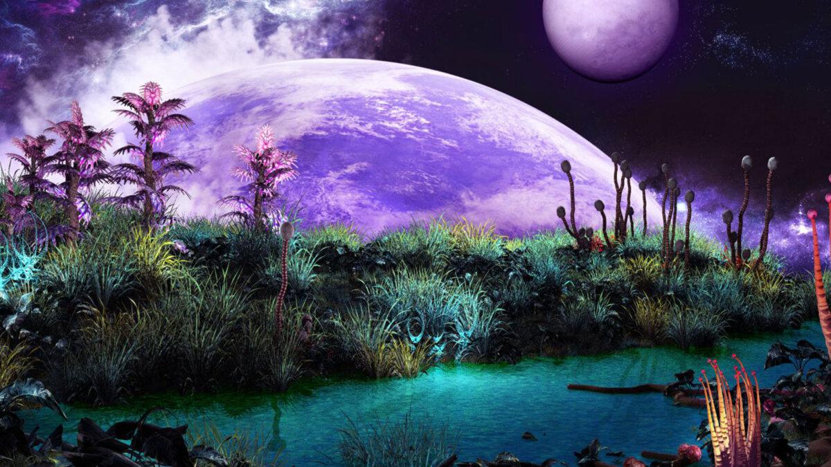 инопланетные растения космос вселенная