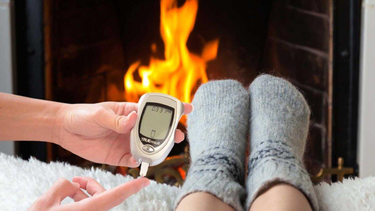 камин замерзли ноги диабет глюкометр