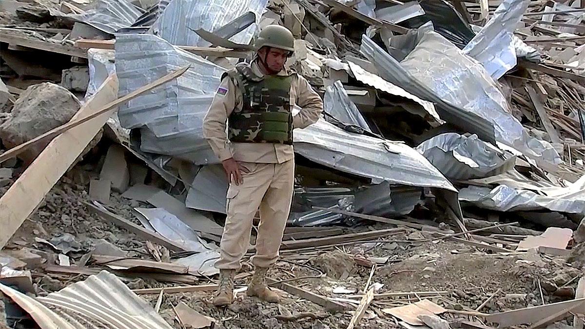 азербайджанский военный в нагорном Карабахе конфликт