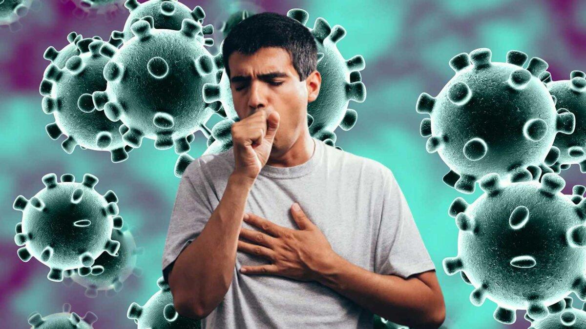коронавирус мужчина кашляет