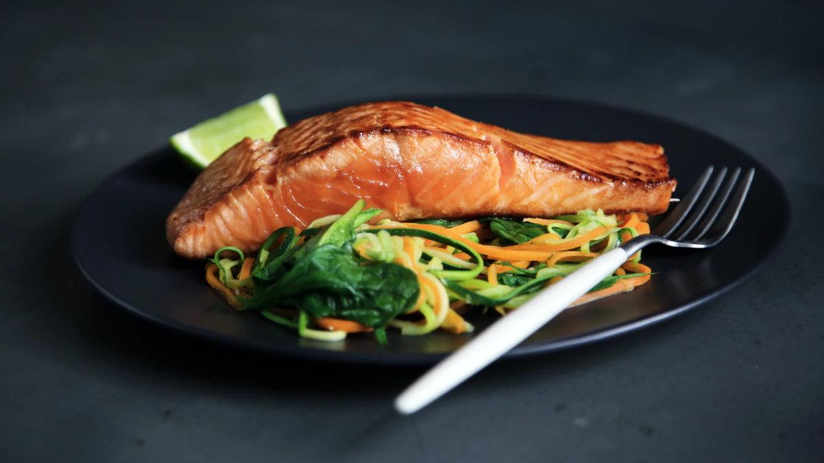 лосось с овощами скандинавская диета