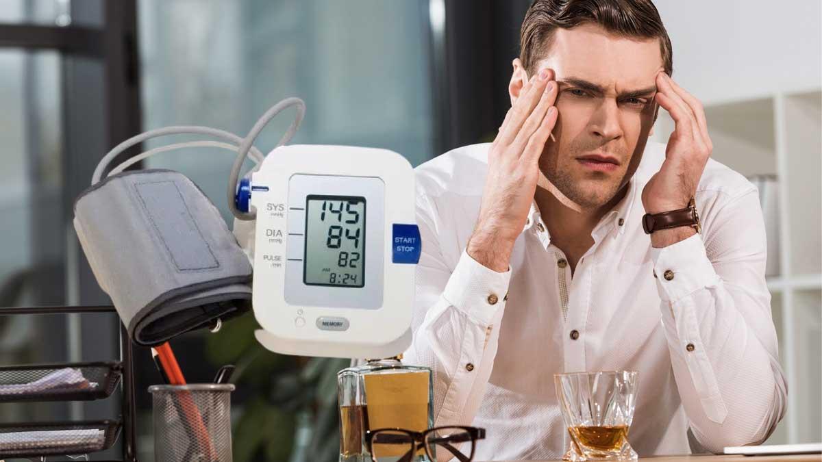мужчина алкоголь высокое давление два