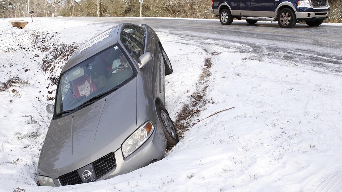 опасность обгона зимой