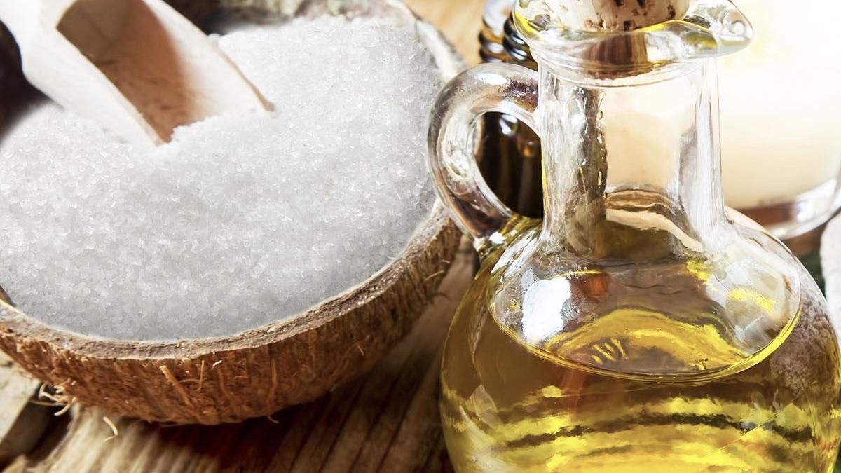 подсолнечное масло и сахар