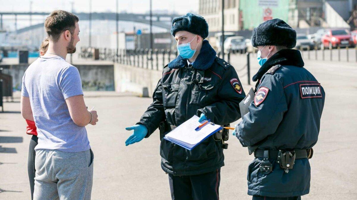 police fine mask полиция выписывает штраф