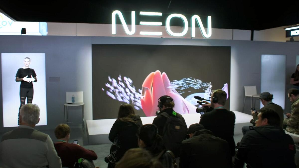 презентация проекта samsung neon