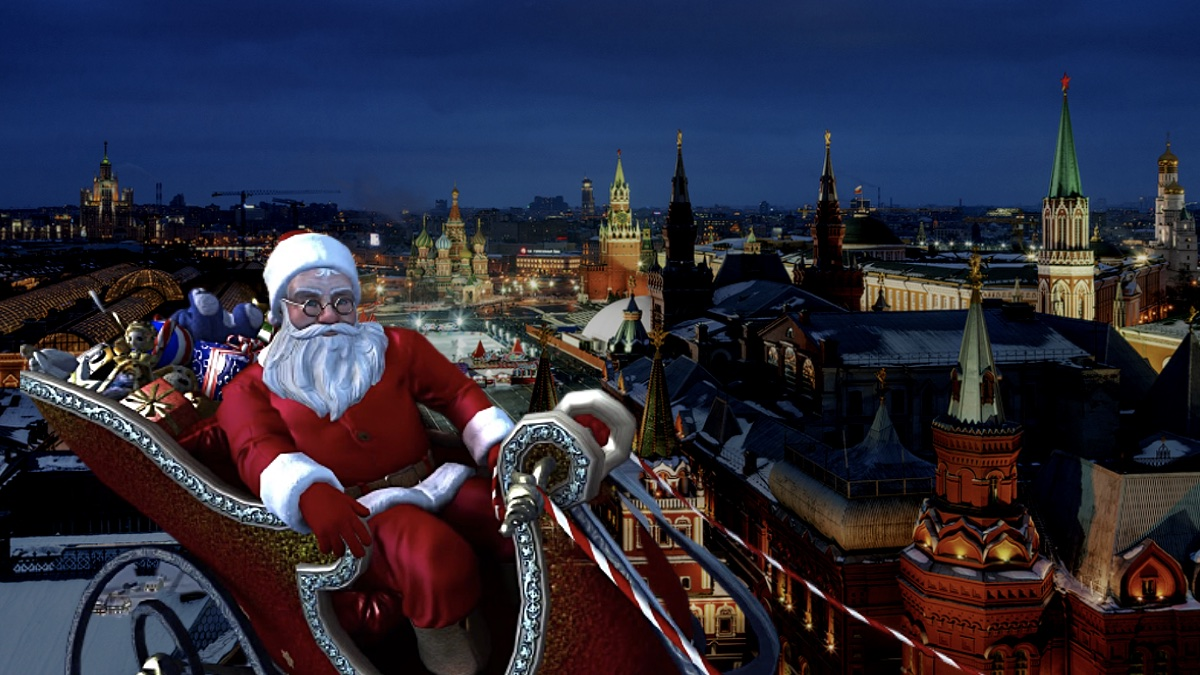 Санта Клаус над Москвой