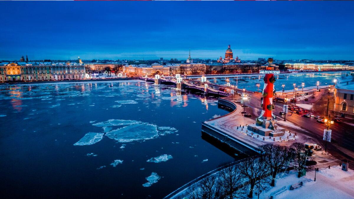 Санкт-Петербург погода зима река Нева