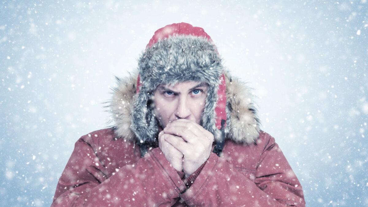 Погода зима снегопад хлопья холод мороз два
