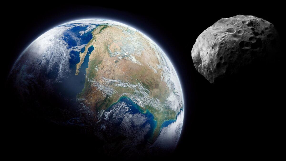Планета Земля метеорит астероид пять