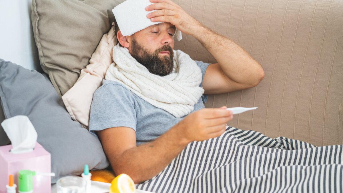 градусник термометр высокая температура болезнь простуда ГРИПП два