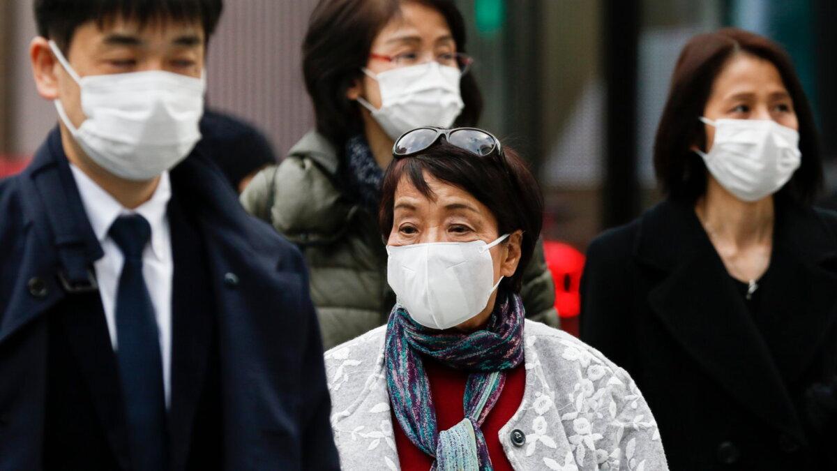 Япония коронавирус люди улица