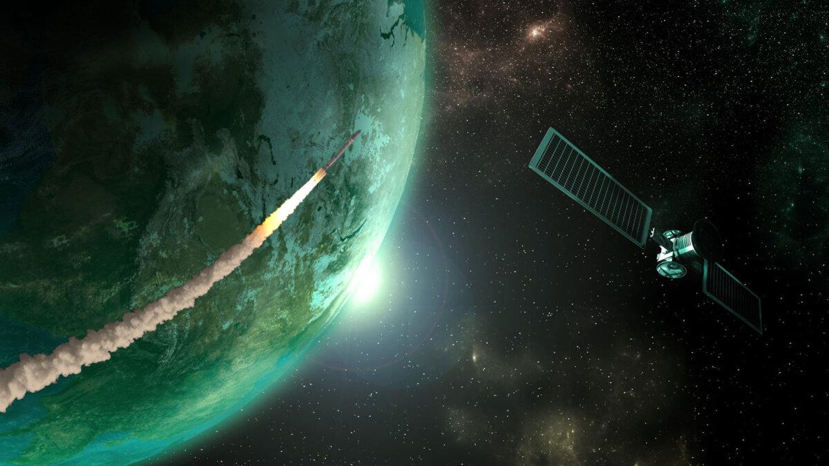 спутник космос ракета планета земля