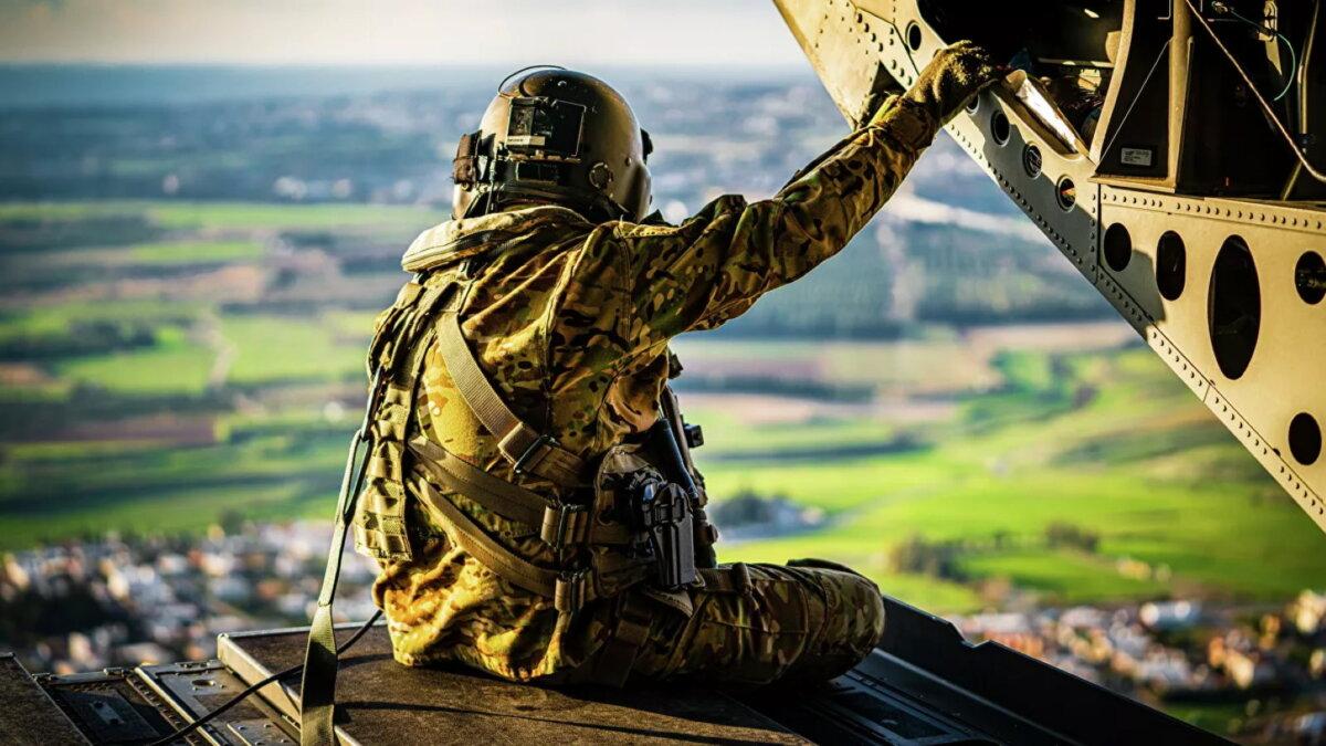 Военные учения армия США вертолёт