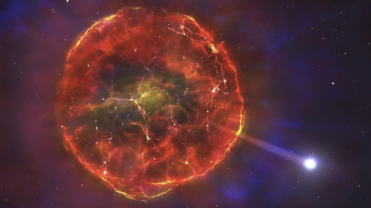 взрыв сверхновой звезды и разгон белого карлика