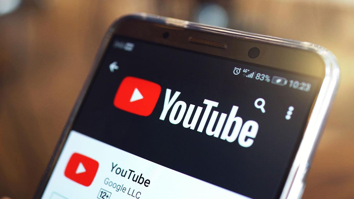 youtube смартфон приложение экран телефона