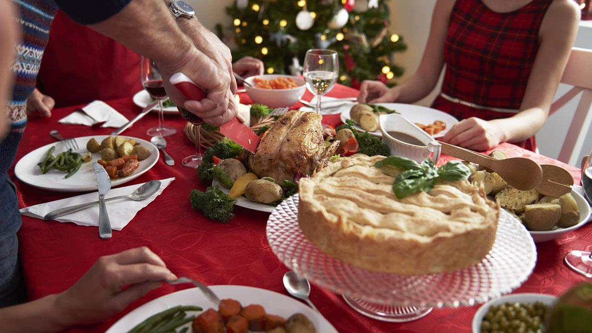 новогоднее застолье рождество еда праздник