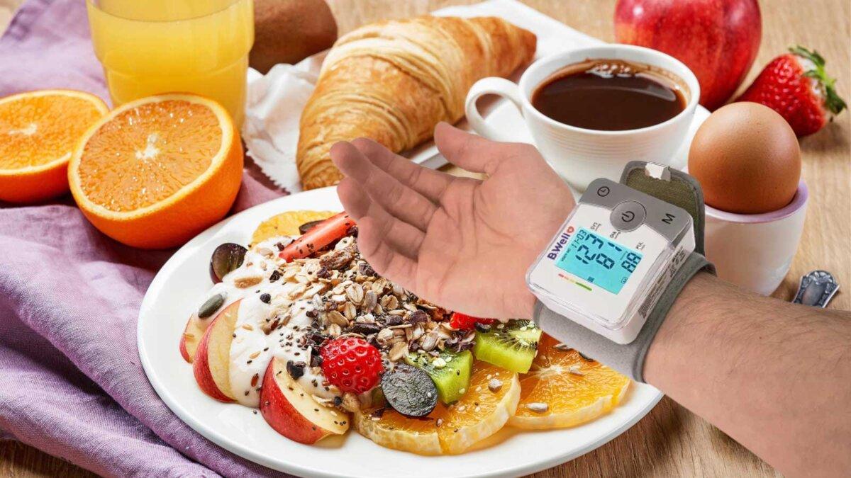 завтрак тонометр давление