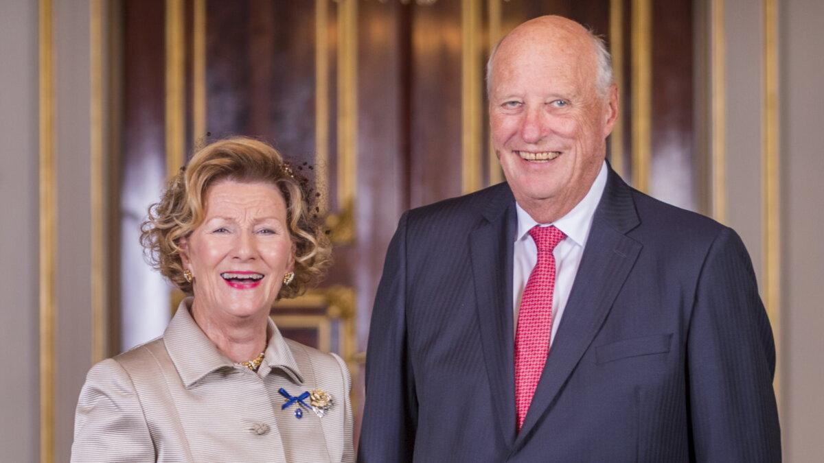 Королева Соня и король Норвегии Харальд V
