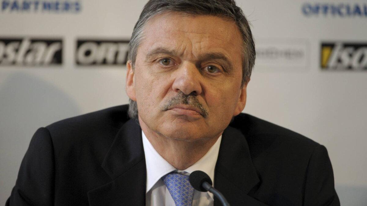 Глава Международной федерации хоккея IIHF Рене Фазель два