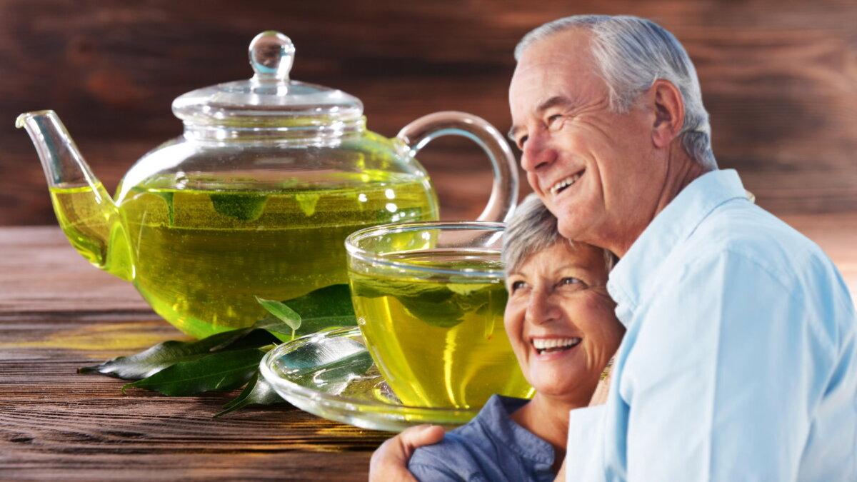 долголетие и зелёный чай