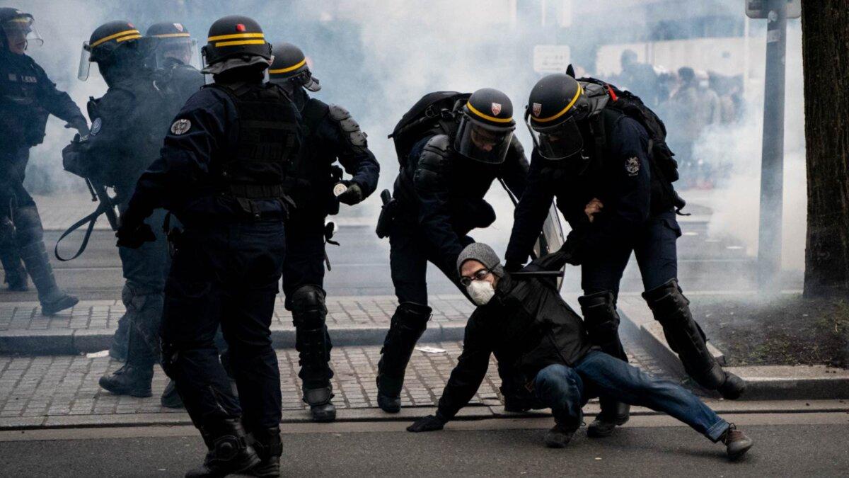 Франция беспорядки протесты задержания
