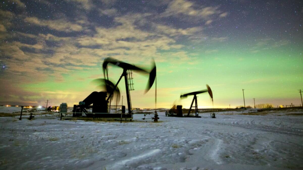 Нефть Нефтедобыча Нефтяной станок-качалка четыре